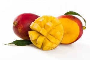full and slices mango fruits