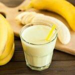 Drinking Banana Juice