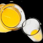 orange juice being poured