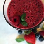 glass red fruit smoothie