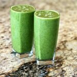two glasses of green smoothie